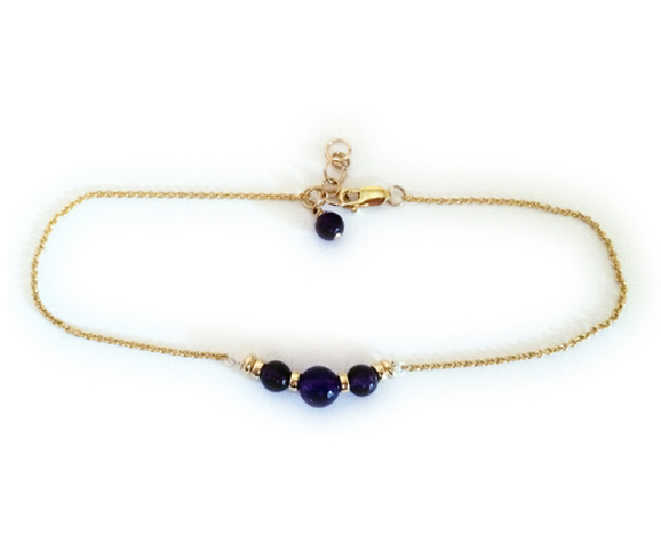 Gold and Gemstone Anklet