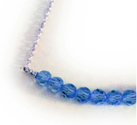 September or Navy Blue Ribbon Anklet