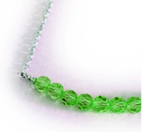 August or Light Green Ribbon Anklet