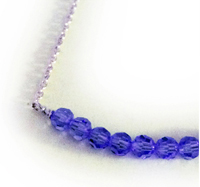 Purple Ribbon Anklet