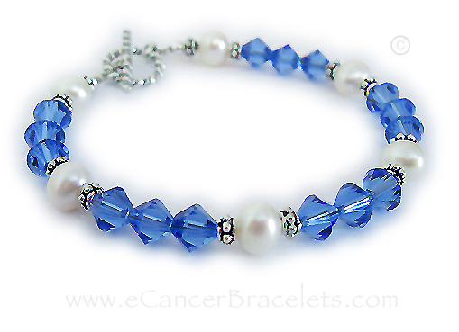 Colon cancer bracelet no ribbon charm