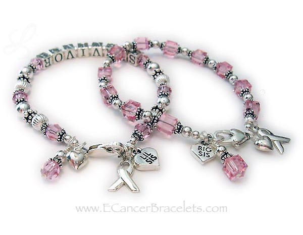 Big Sis Lil Sis Breast Cancer Bracelets