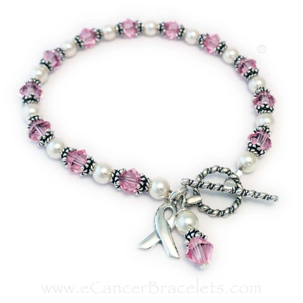 Breast Cancer Pink Ribbon Bracelet