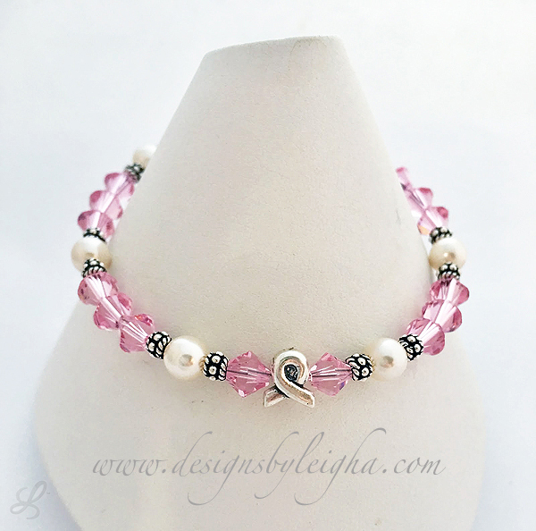 Cancer Awareness Ribbon Bracelets, Ribbon Necklaces