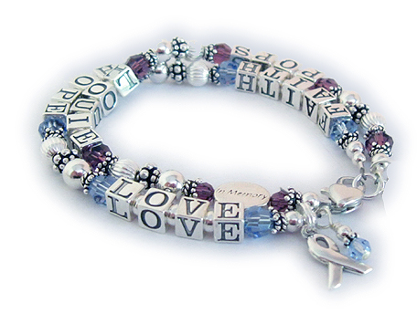 Faith Hope and Love bracelet - 2 strings with names - IN MEMORY Bracelet