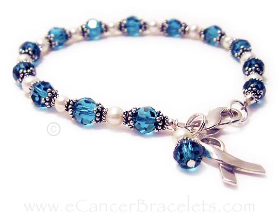 Teal Ribbon Bracelet