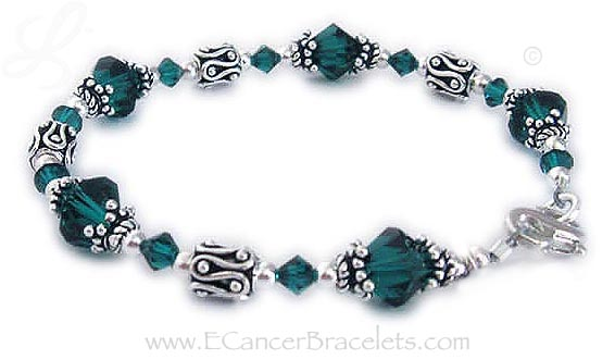 Organ Donor Awareness Bracelet with a Lucky Charm - CBB-R27