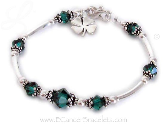 Green Donor Bracelet with Lucky Charm