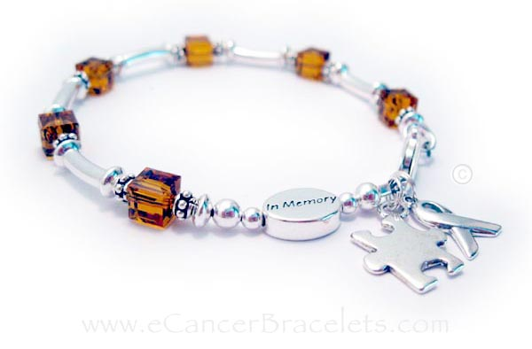 Leukemia or Orange Ribbon Bracelet