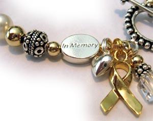 In Memory Bracelets In Memory Beads For Cancer Ribbon
