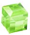 Square or cube Peridot Birthstone Crystals