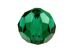 Round  May or Emerald Swarovski Crystal