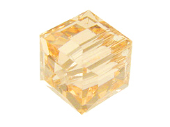 Peach Swarovksi Crystal Cube or Square