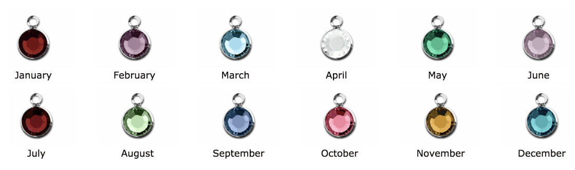 Cancer Colors in Round Swarovski Crystal Charms