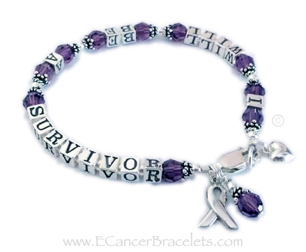Pancreatic Cancer Ribbon Bracelet
