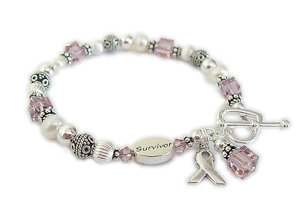 General Cancer Awareness Bracelet with Survivor Bead