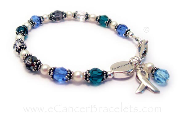 Ovarian Cancer, Cervical Cancer and Brain Cancer in Memory Bracelet