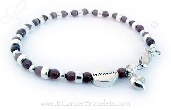 Pancreatic Testicular and Thyroid Cancer Bracelet with all Cancer Colors in Cats Eye Beads