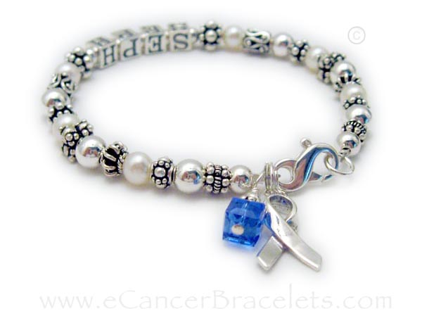 Colon Cancer Blue Ribbon Bracelet