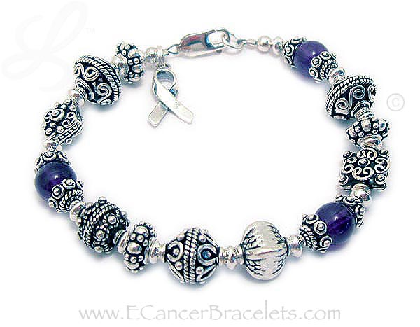 Purple Ribbon Bracelet