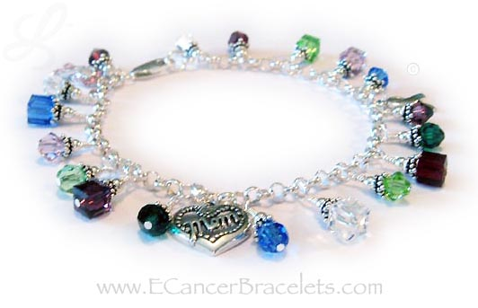 Mutli Colored Cancer Bracelet for Survivors and MOM