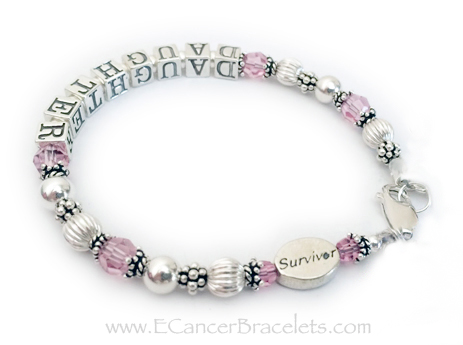 DAUGHTER Survivor bracelet for Breast Cancer