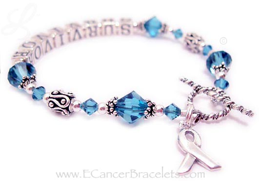Ovarian Cancer Survivor Bracelet - CBB-Ribbon 27-5.5mm