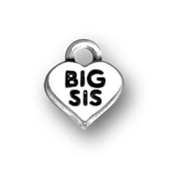 Sterling Silver Big Sis Charm