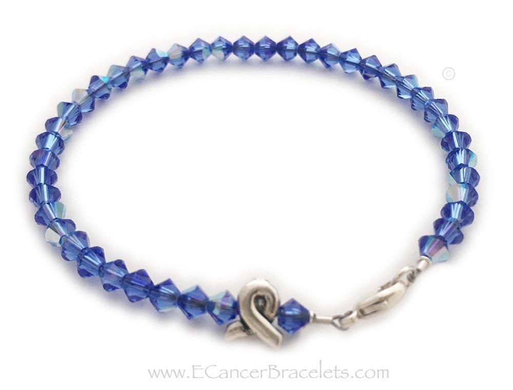 Small Colon Cancer Ribbon Bracelet Cbb R33