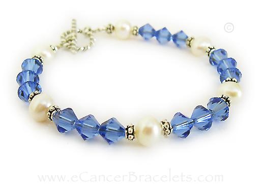Colon Cancer Awareness Bracelets Blue Ribbon Charm Bracelet