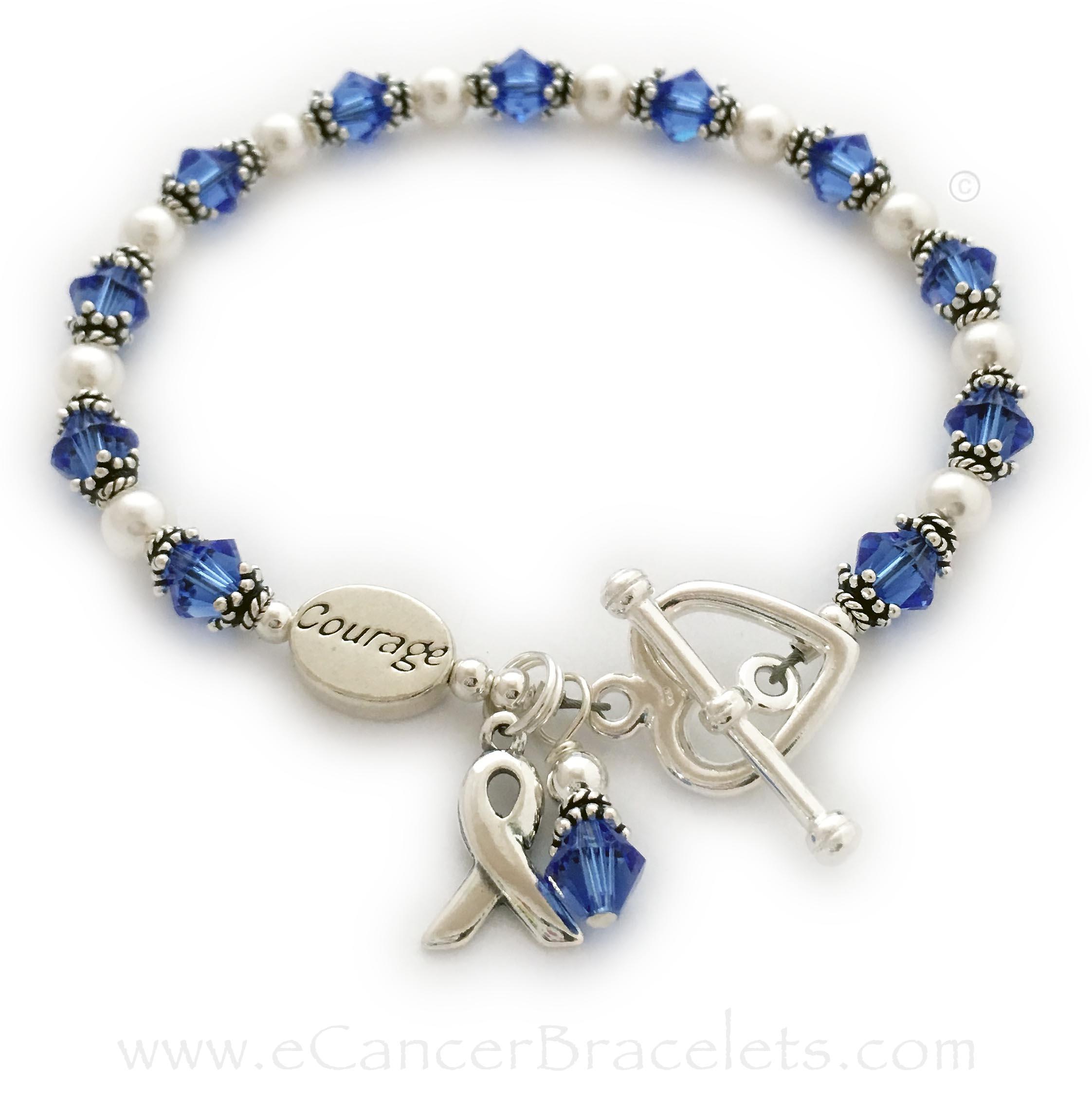 Dark Blue Ribbon Awareness Bracelets Necklaces Earrings Blue Ribbon Charm