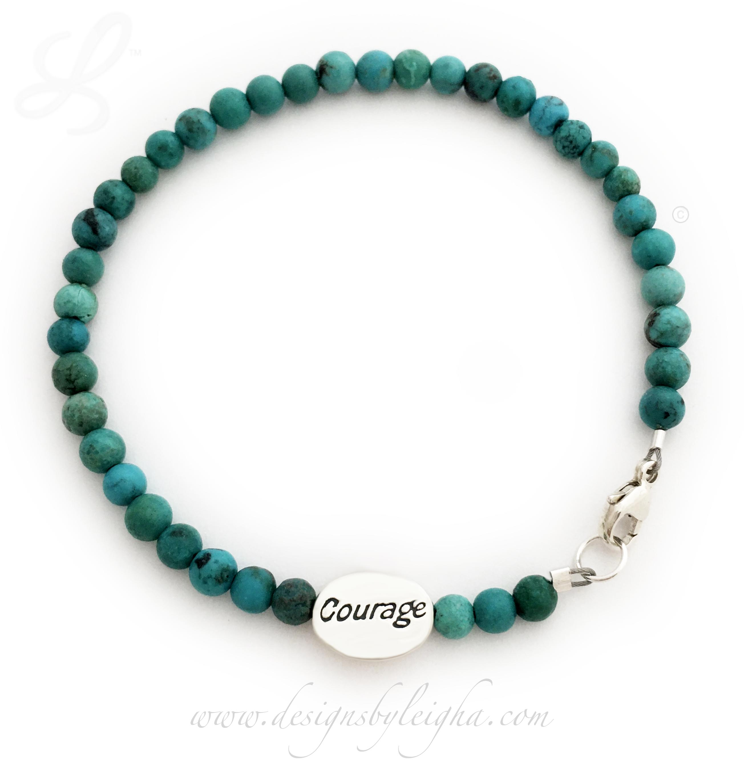 Amethyst Gemstone Courage Bracelet - any gemstone! -CBB-R60
