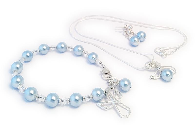Guardian Angel Necklace, Bracelet & Earrings