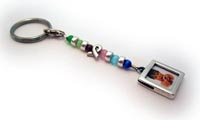 Cat's Bead Ribbon Key Chain