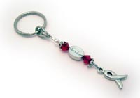 Pewter Ribbon Key Chain