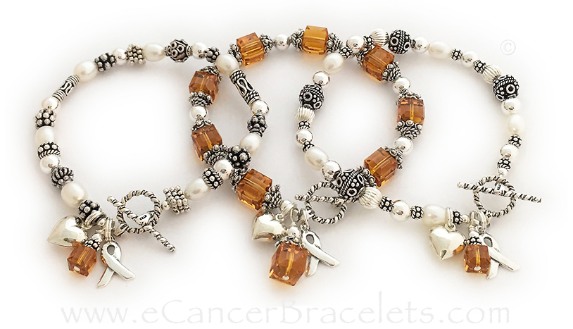 Orange Ribbon Bracelets