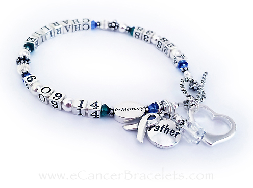 Charlie Lifetime Bracelet with In Memory Bead and Father Charm...