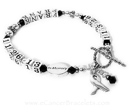 CBB-LIFETIME/sterling This life time bracelet is shown FRANK and with black crystals. Everything shown is included in the price.