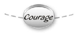 COURAGE message beads