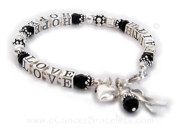 Melanoma Awareness Ribbon Bracelet