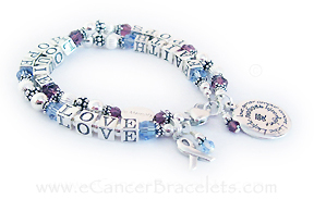 Faith Hope and Love Breast Cancer Bracelet -  2 string bracelet