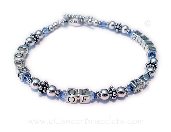 Love of My LIfe Bracelet with December Birthstone Crystals