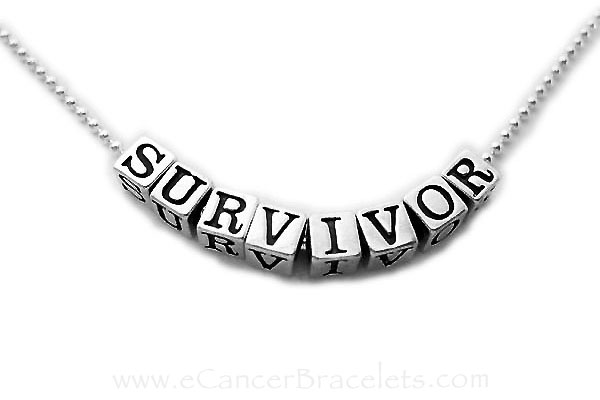 Survivor Necklaces - sterling silver on a sterling silver ball chain