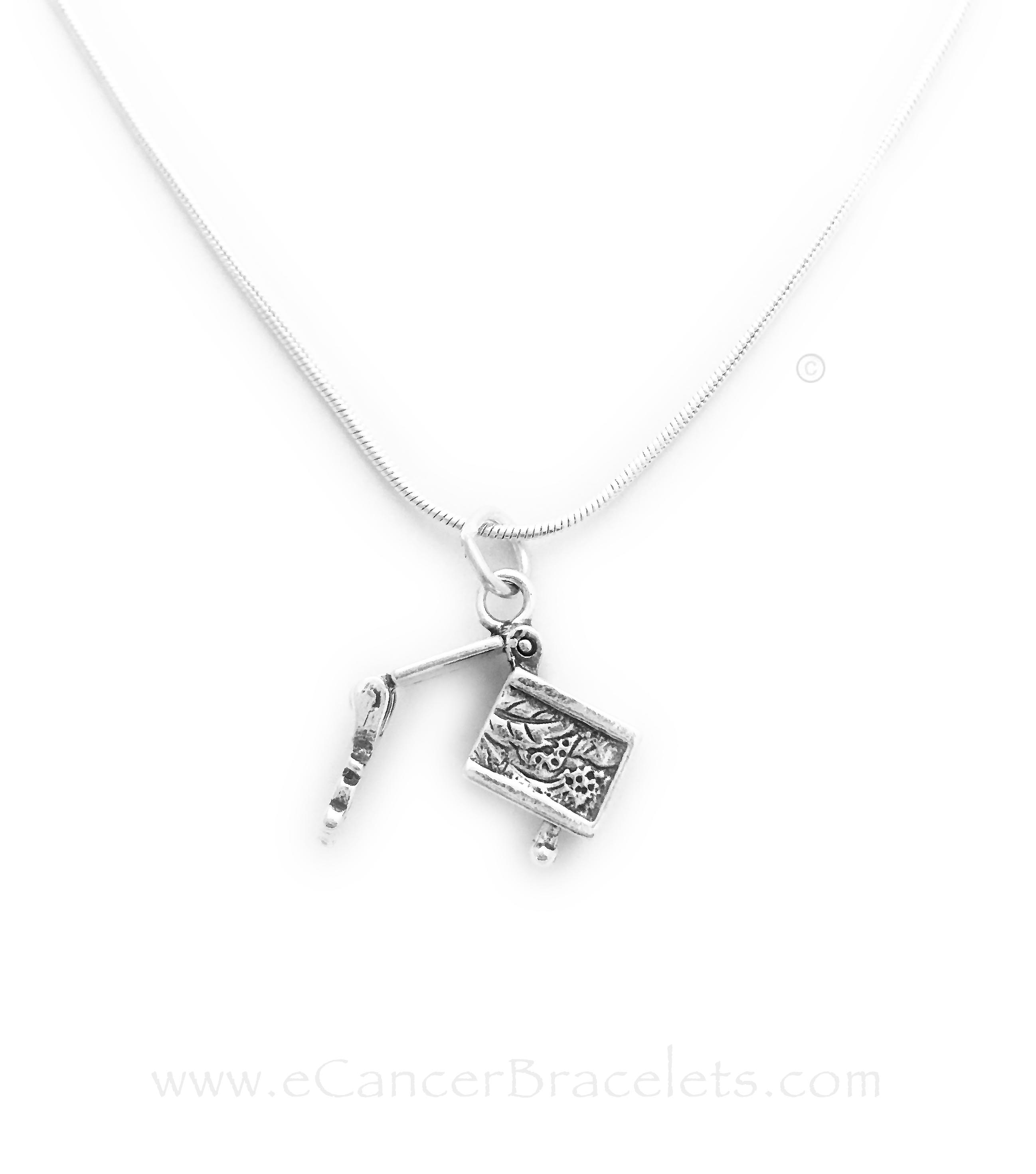 Open Sterling Silver Prayer Box Charm on a Sterling Silver Chain