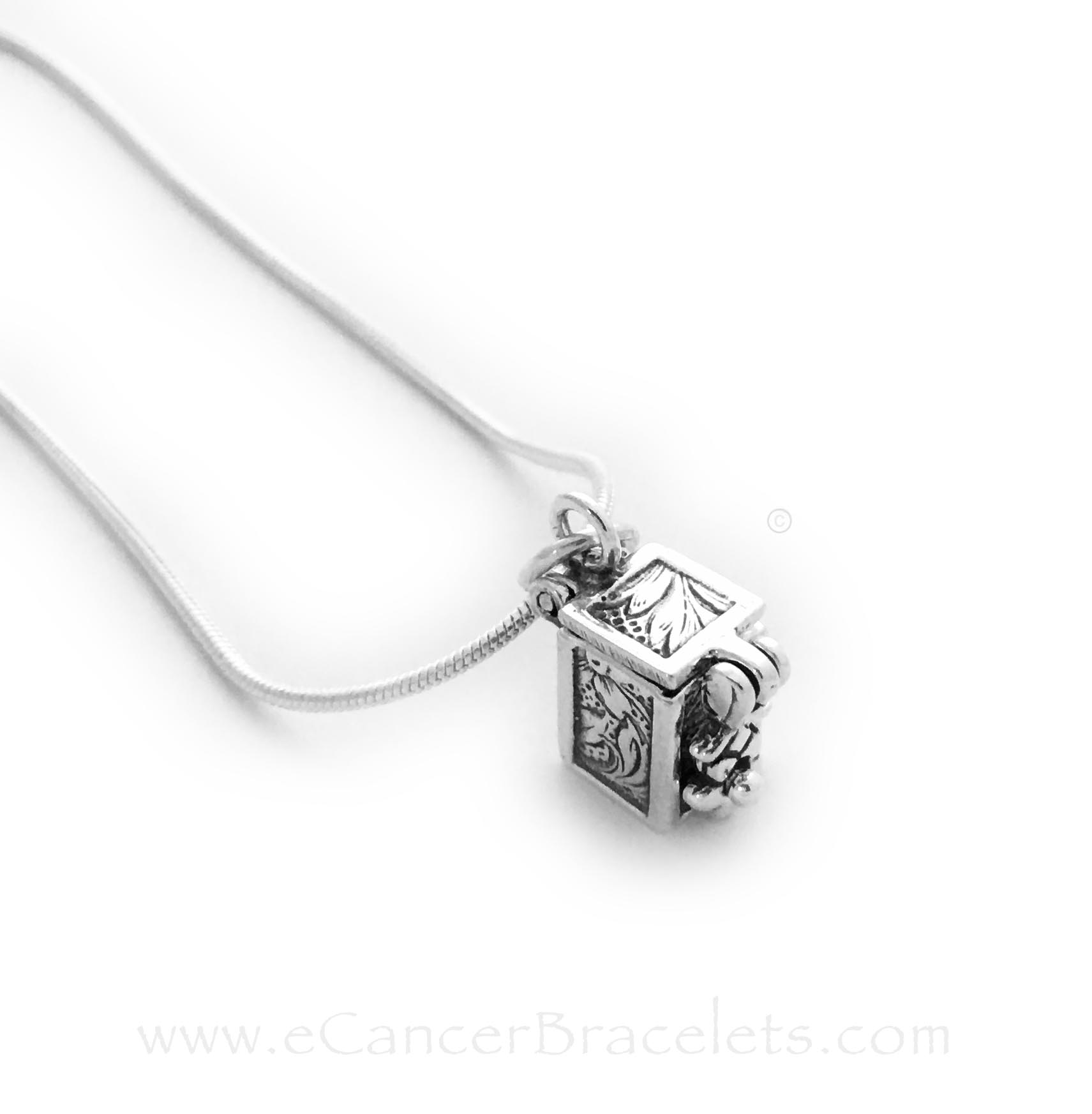 Sterling Silver Prayer or Blessing Box Charm (hinged)