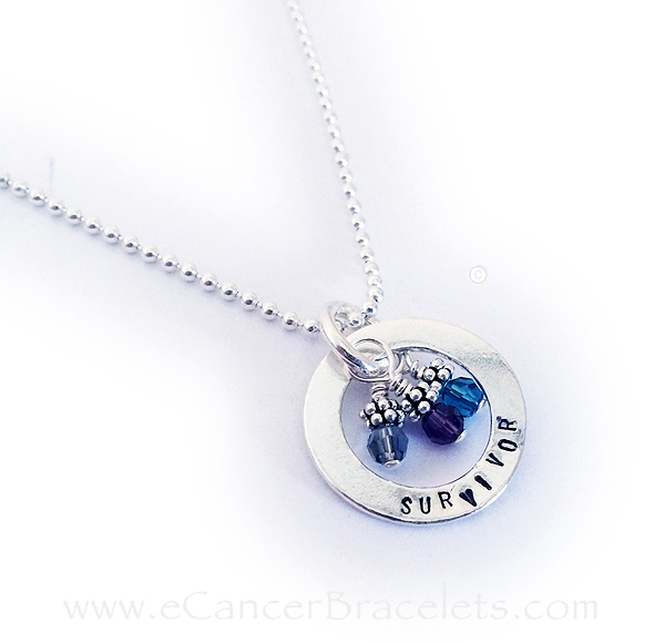 Survivor Necklace with Cancer Survivor and Awareness Charms